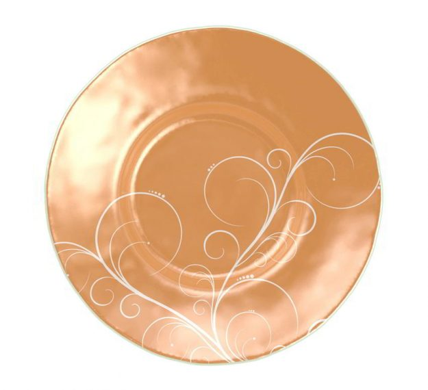 A Large Soup Bowl for Royal Glamour Designed by Anna Vasily. - top view