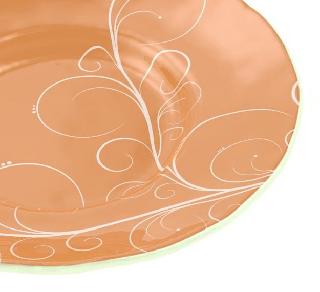A Large Soup Bowl for Royal Glamour Designed by Anna Vasily. - detail view