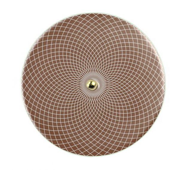 Elegant & Modern Round Serving Platter Designed by Anna Vasily. - top view