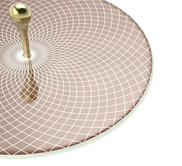 Elegant & Modern Round Serving Platter Designed by Anna Vasily. - detail view