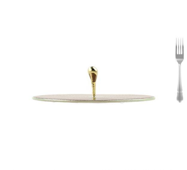 Elegant & Modern Round Serving Platter Designed by Anna Vasily. - measure view