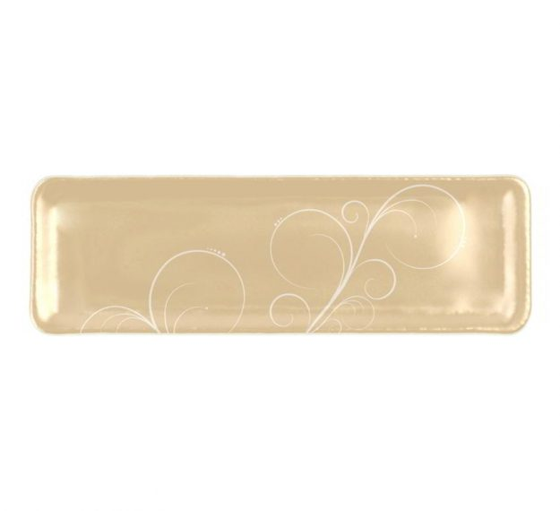Handcrafted Rectangular Petit Fours Plate Designed by Anna Vasily. - top view