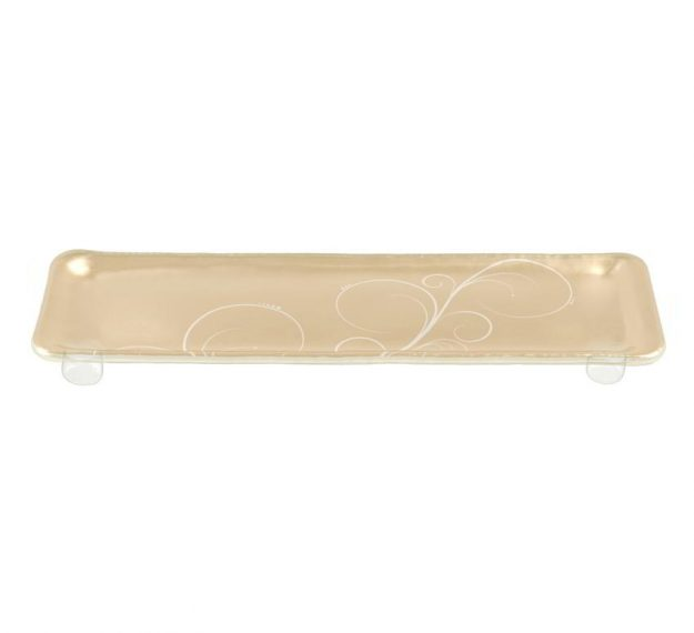 Handcrafted Rectangular Petit Fours Plate Designed by Anna Vasily. - 3/4 view