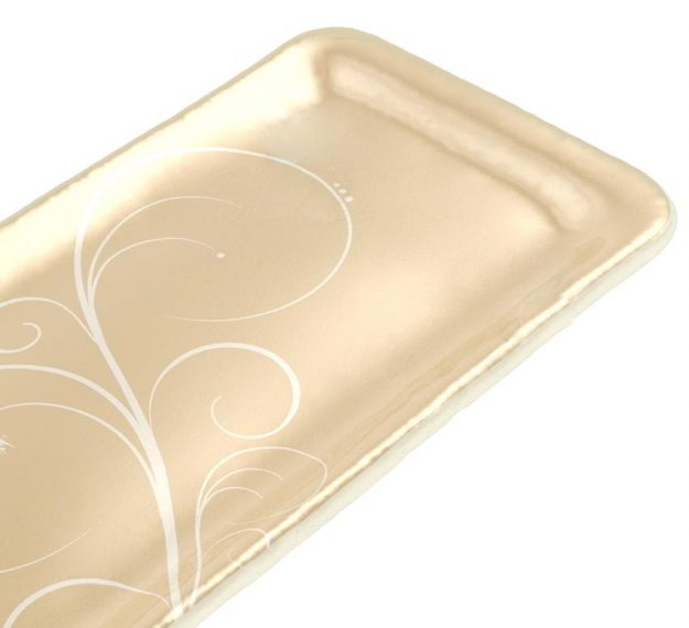 Handcrafted Rectangular Petit Fours Plate Designed by Anna Vasily. - detail view