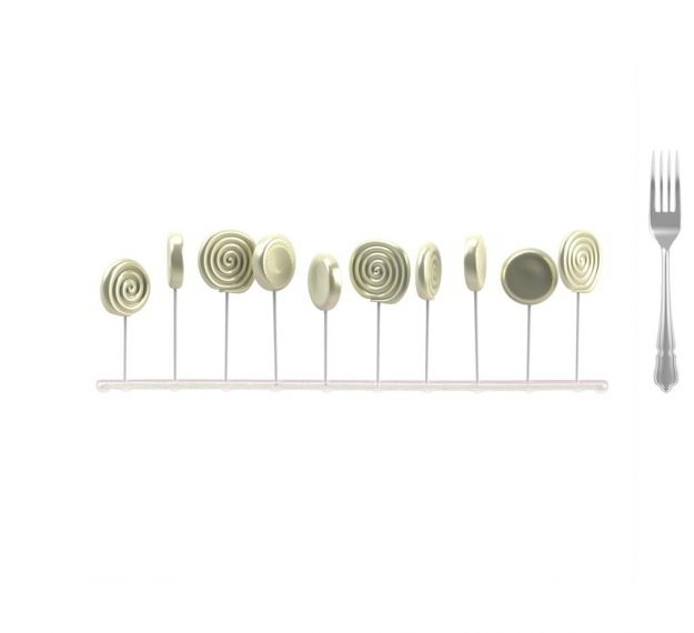 Pink Lollipop Stand Designed by Anna Vasily. - measure view