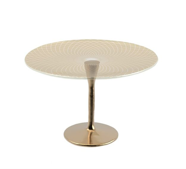 Tall Cake Stand on Pedestal for Stylish Cake Displays by Anna Vasily. - 3/4 view
