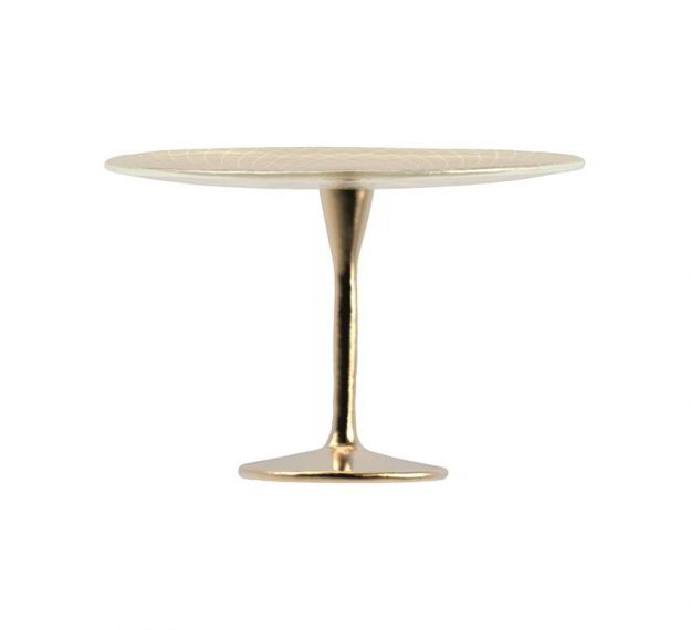 Tall Cake Stand on Pedestal for Stylish Cake Displays by Anna Vasily. - side view