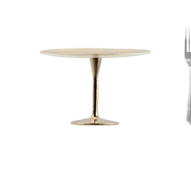 Tall Cake Stand on Pedestal for Stylish Cake Displays by Anna Vasily. - measure view