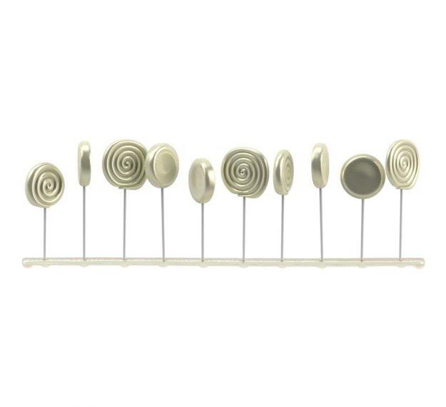 Elegant Lollipop Stand Display Designed by Anna Vasily. - side view