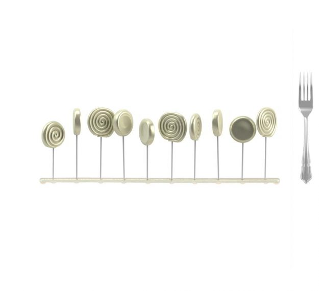 Elegant Lollipop Stand Display Designed by Anna Vasily. - measure view