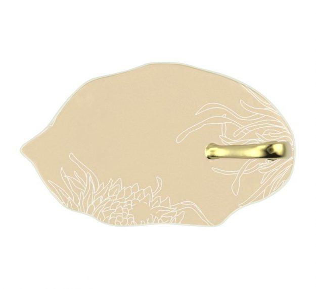 Elegant Small Canape Dish With Handle Designed by Anna Vasily. - top view