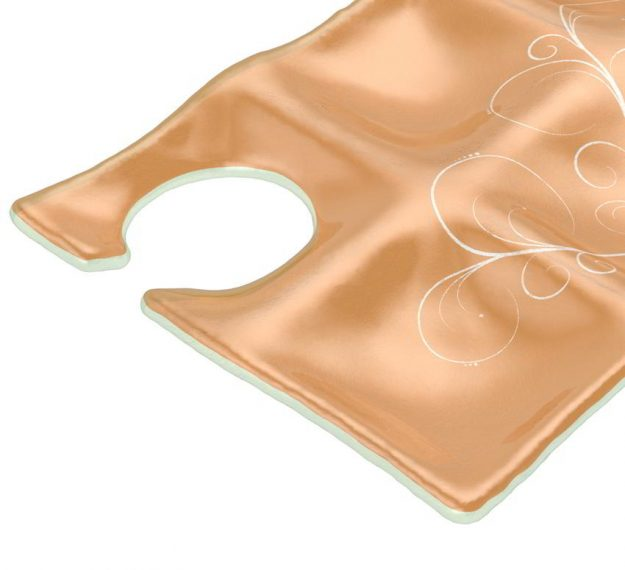 Matte Gold Cocktail Plates With Glass Holder Designed by Anna Vasily. - detail view