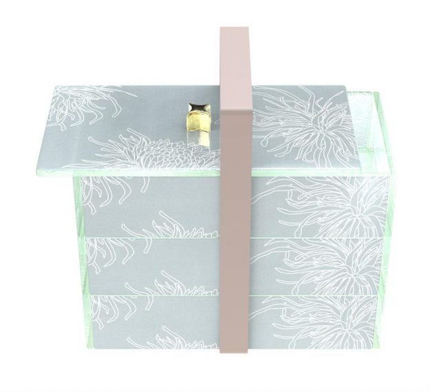 Elegant Bento Box With 3 Drawers and a Lid Designed by Anna Vasily. - 3/4 view