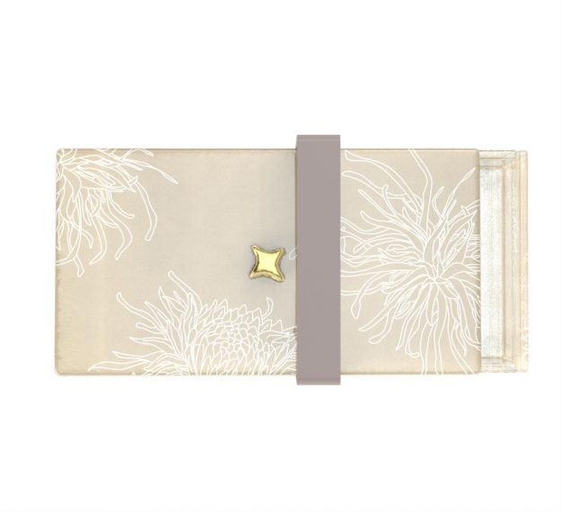 Floral Patterned Luxury Bento Box Designed by Anna Vasily. - top view