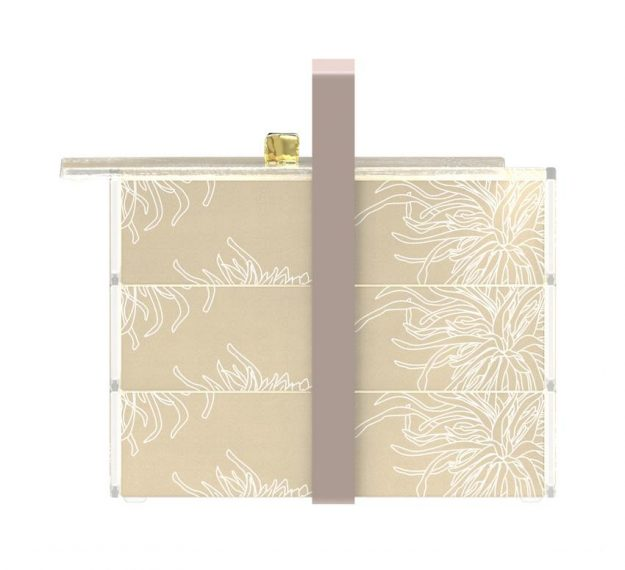 Floral Patterned Luxury Bento Box Designed by Anna Vasily. - side view