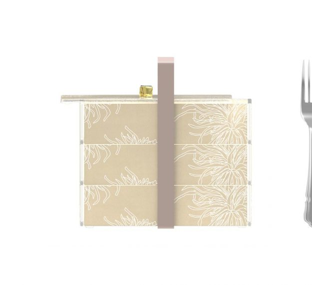 Floral Patterned Luxury Bento Box Designed by Anna Vasily. - measure view