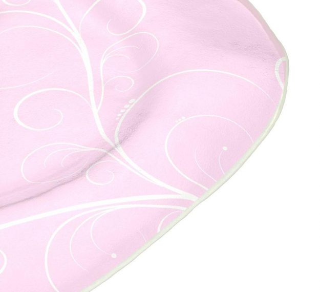 Organic Shaped Pink Charger Plates Designed by Anna Vasily. - detail view
