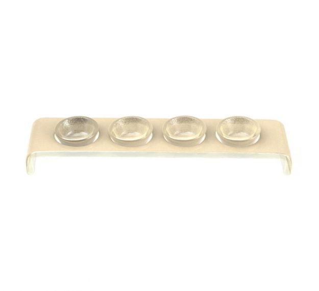 Elegant Glass Spice Holder With Tiny Bowls Designed by Anna Vasily. - 3/4 view