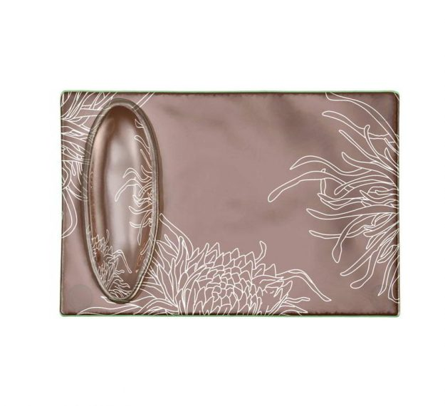 Floral Raised Sushi Plate Set Designed by Anna Vasily. - top view