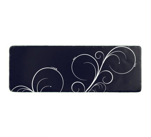 Stylish Dark Vavy Blue Platters Designed by Anna Vasily. - top view