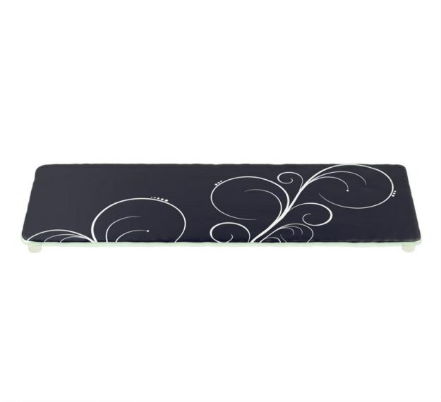 Stylish Dark Vavy Blue Platters Designed by Anna Vasily. - 3/4 view