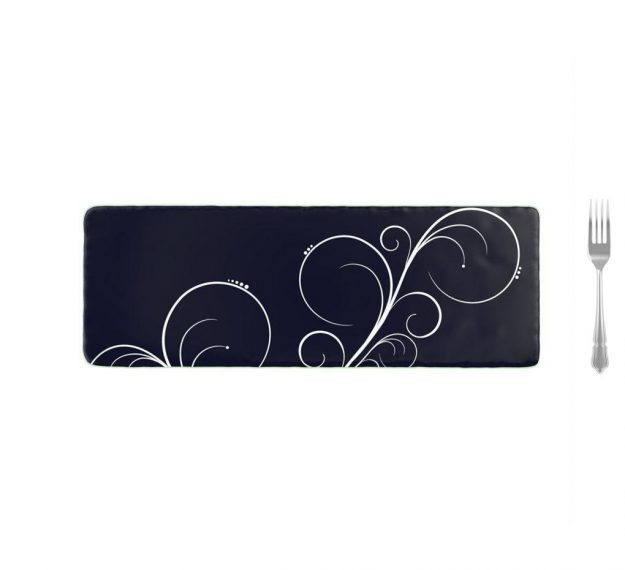 Stylish Dark Vavy Blue Platters Designed by Anna Vasily. - measure view