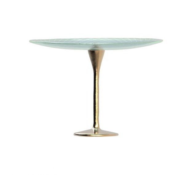 Classic Blue Cake Pedestal. A Stylish Addition by Anna Vasily. - side view