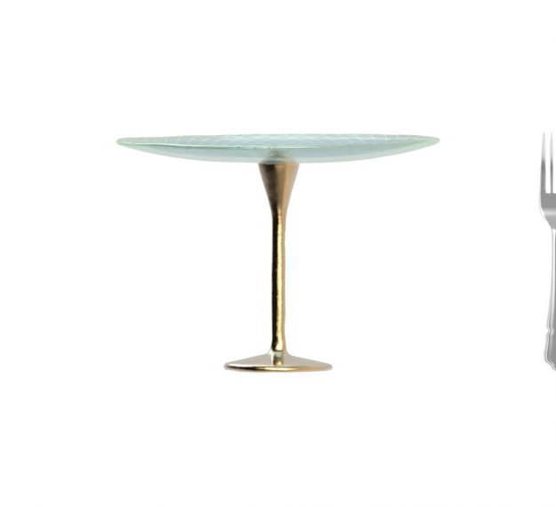 Classic Blue Cake Pedestal. A Stylish Addition by Anna Vasily. - measure view