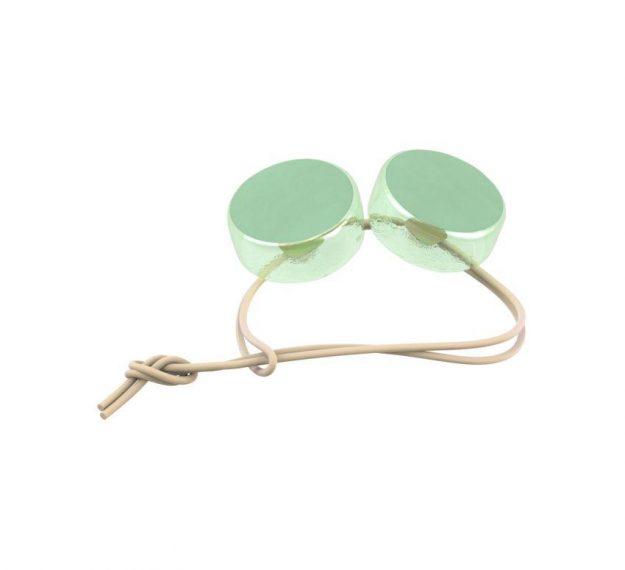 Mint Green Round Napkin Holders. An Elegant Detail by Anna Vasily - 3/4 view