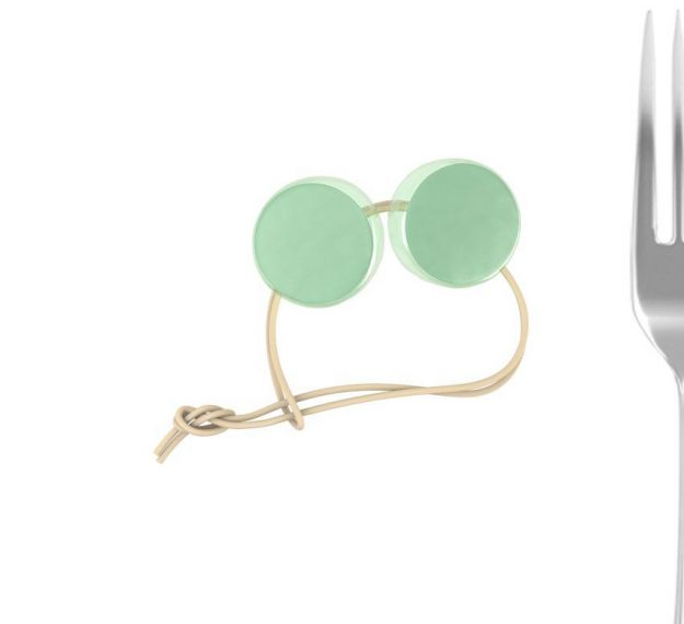 Mint Green Round Napkin Holders. An Elegant Detail by Anna Vasily - measure view