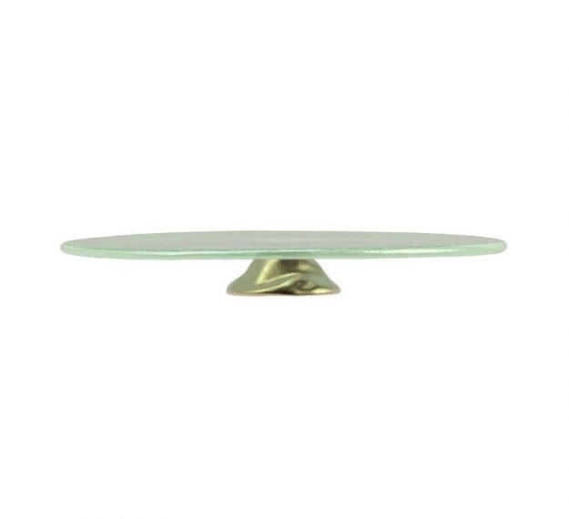 Mint Green Wedding Cake Stand - An Opulent Touch by Anna Vasily. - side view
