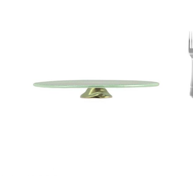 Mint Green Wedding Cake Stand - An Opulent Touch by Anna Vasily. - measure view
