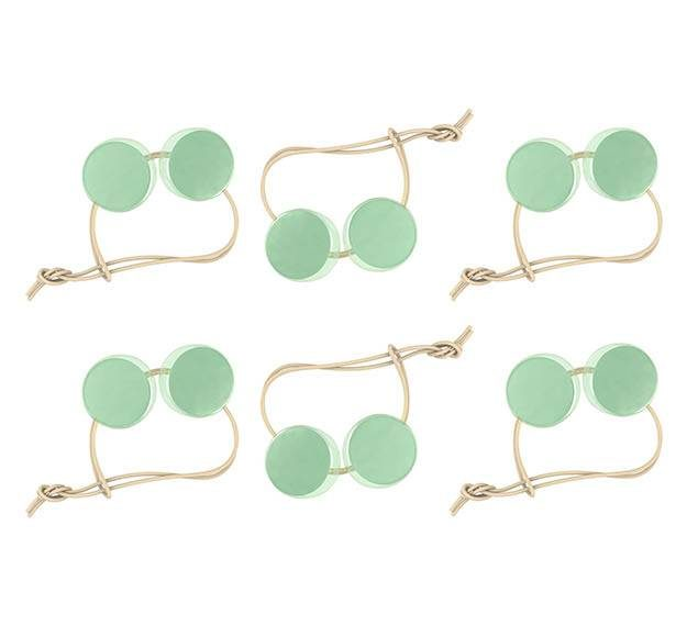 Mint Green Round Napkin Holders. An Elegant Detail by Anna Vasily - set view