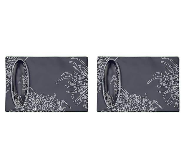 Blue Rectangular Sushi Plate Designed by Anna Vasily. - set view