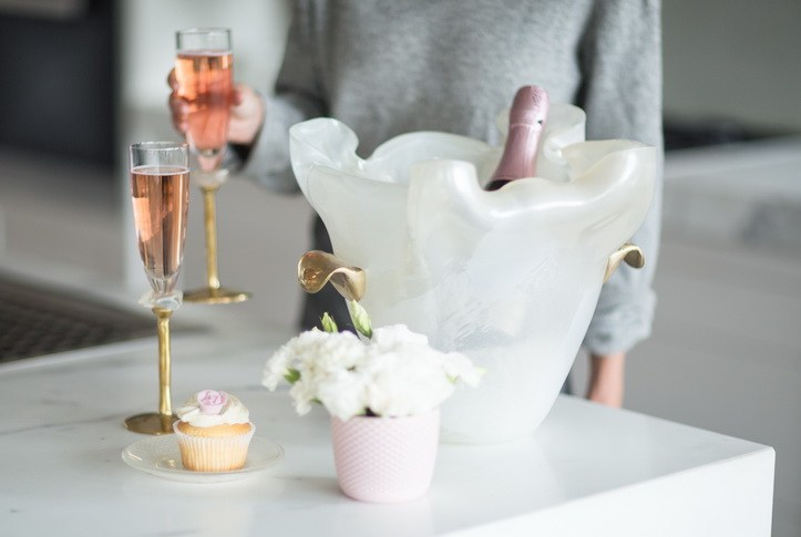 Elegant champagne ice bucket, 1 piece $469 Light Blue MetallicCoral Rose Gold save more with our quantity discounts Add To Cart Buying Daka will gift you 3,900 points. Anna's Story Gift Box Packaging Testimonials Quality Help DESCRIPTION NOTES & INFORMATION Bring a sense of romance to an evening drink or your next champagne party with Daka. A lovely champagne ice bucket, Daka comes in a beautiful combination of delicious cream with light dawn blue colour accents. She is complete with two hand crafted bronze handles. Impress your guests with Daka!