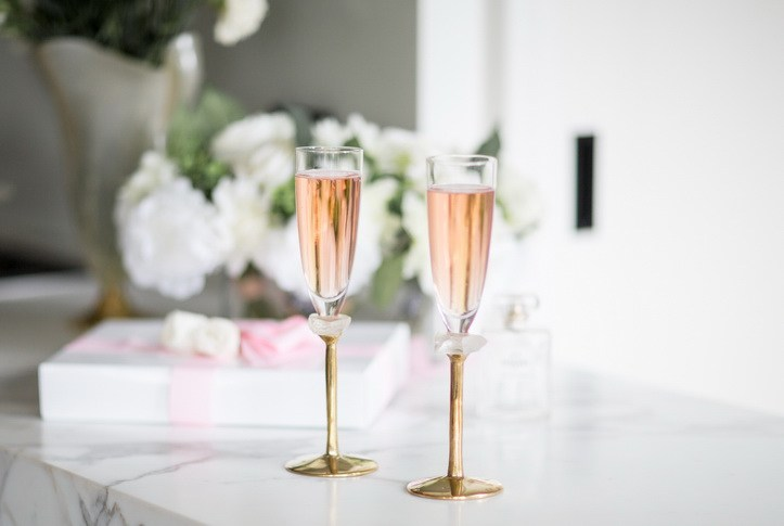 Modern champagne glass, set of 2 $149 Metallic CreamPale PinkLight Blue MetallicDark Navy Blue save more with our quantity discounts Add To Cart Buying Gaby will gift you 1,200 points. Anna's Story Gift Box Packaging Testimonials Quality Help DESCRIPTION NOTES & INFORMATION Imagine Gaby, in the hands of your guests, while you work the room to ensure a successful event! Gaby is an exceptional modern champagne glass on a hand polished bronze stem, adorned with a cream coloured glass gem. You'll be remembered as a host with style when you entertain your guests with Gaby!