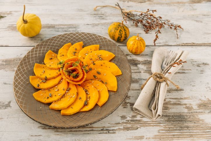 gold dinner plates - brooke charger plate with grilled squash
