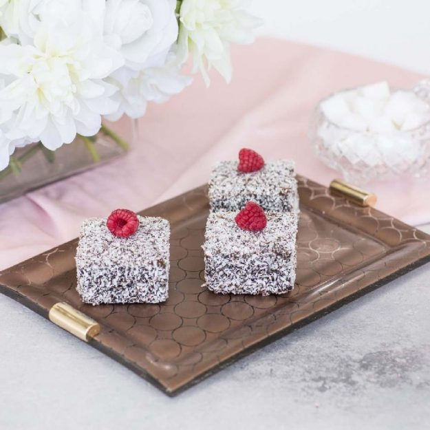 Elegant Charger Plates with Brass Handles, Bella Set/2 Dining Table Chargers with Lamingtons