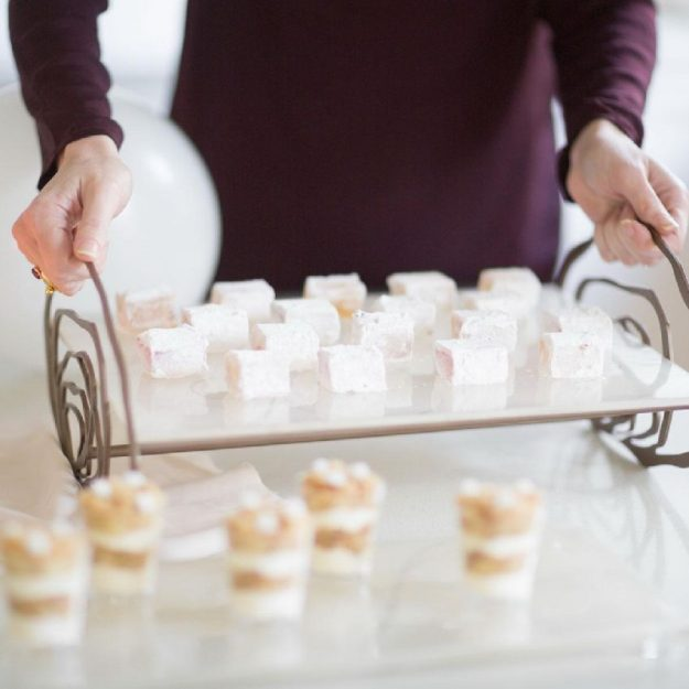 Cake Display Stand, Uriel Handcrafted Afternoon Tea Stand with Small Square Cakes - Anna Vasily