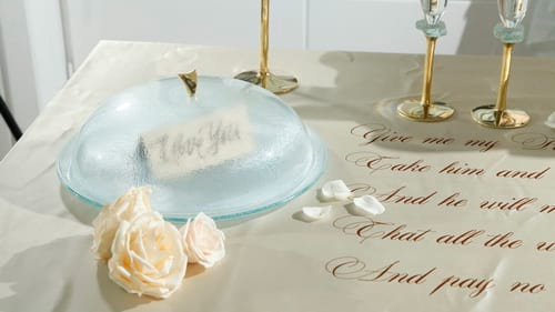 Glass cake stands dome/lid and cake plate with dome by Anna Vasily.