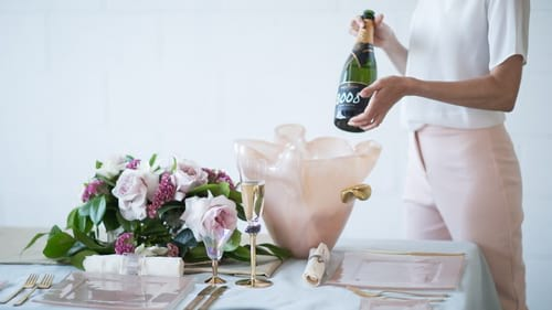 Champagne accessories by AnnaVasily featuring the pink champagne bucket Elan.