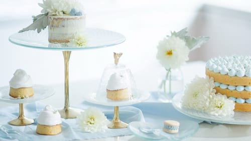 Modern tea stands and cake stands with pedestal for high tea tea and weddings by Anna Vasily.